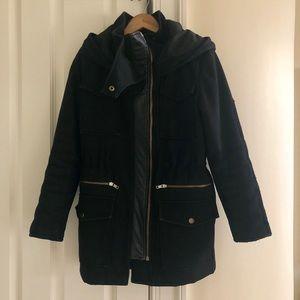 Black Kooples Hooded Winter Parka: Size XS